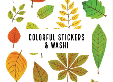 Colorful Stickers & Washi