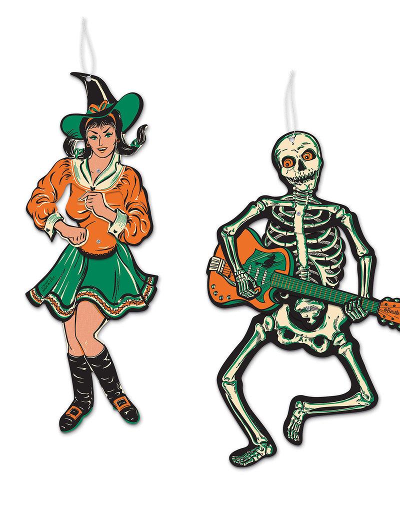 "Vintage Halloween Jointed GoGo Dancers 14"" & 14½"""