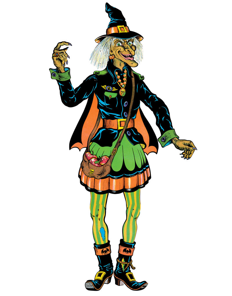 """Vintage Halloween Jointed Witch 4' 9"""""""