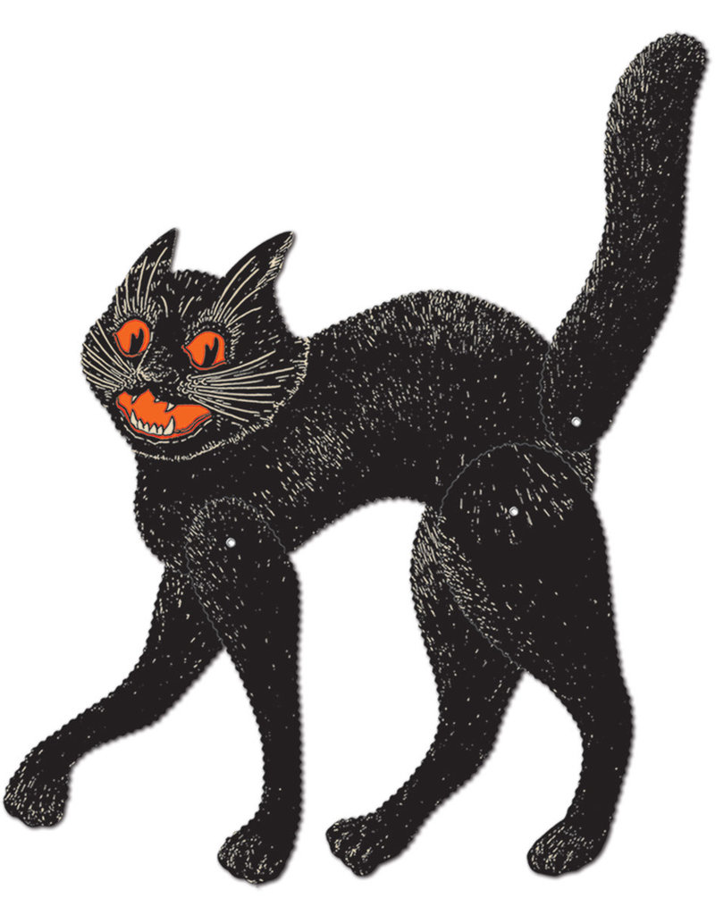Vintage Halloween Jointed Scratch Cat