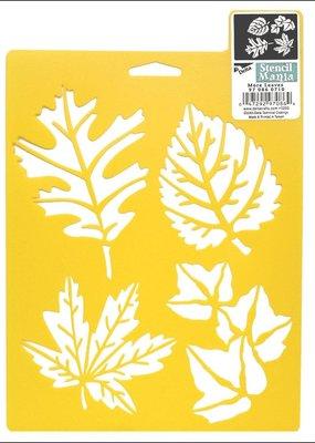 Delta Stencil Mania 7 x 10 More Leaves