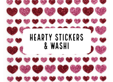Hearty Stickers & Washi