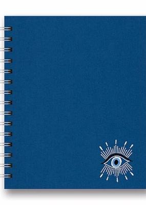 Studio Oh! Embroidered Tabbed Spiral Notebook Evil Eye