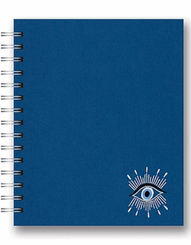 Studio Oh! Embroidered Tabbed Spiral Notebook Evil Eye