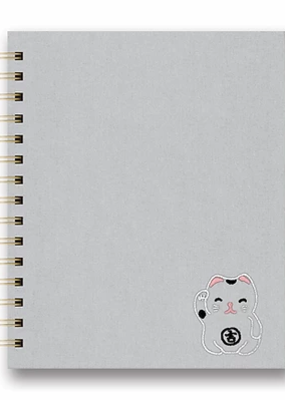 Studio Oh! Embroidered Tabbed Spiral Notebook Good Juju