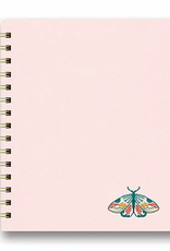 Studio Oh! Embroidered Tabbed Spiral Notebook Floral Moth
