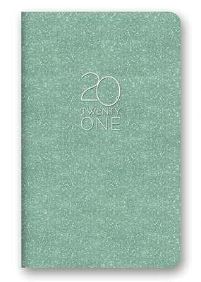Studio Oh! Leatheresque Mini Monthly Planner Mint Shimer