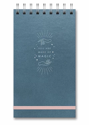 Studio Oh! Leatheresque Top Spiral Notebook You Are Made  Of Magic