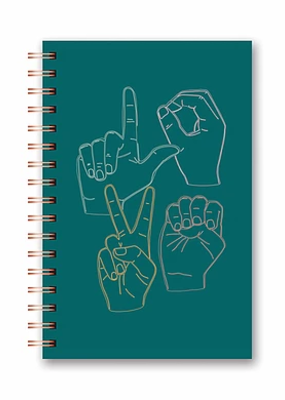 Studio Oh! Medium Spiral Notebook ASL Love