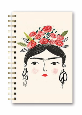 Studio Oh! Medium Spiral Notebook Portait Of Woman With Flower Crown