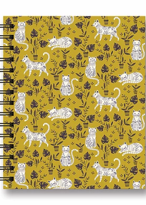 Studio Oh! Tabbed Spiral Notebook Botanical Cats