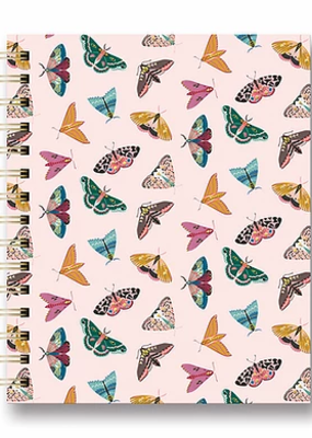 Studio Oh! Tabbed Spiral Notebook Floral Moth