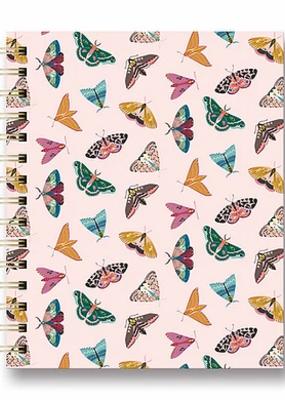 Studio Oh! Tabbed Spiral Notebook Floral Moth