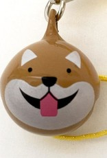 Bell Charm  Brown Dog