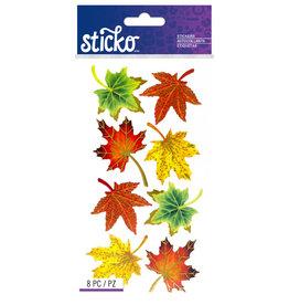 Sticko Stickers Vellum Maple Leaves