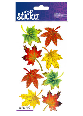 Sticko Stickers Vellum Maple Leaves