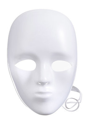 Darice White Face Mask 8.5 Inches