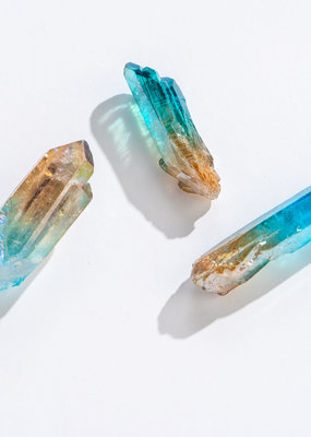 GeoCentral Peach Teal Ombre Quartz Points