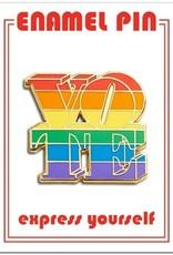 The Found Enamel Pin Vote Rainbow