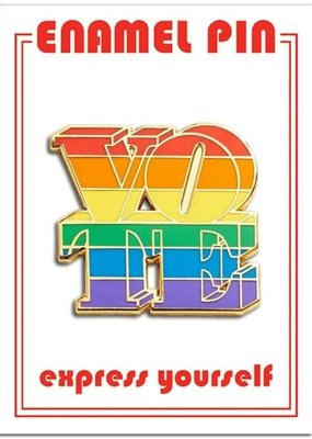 The Found Enamel Pin Vote Rainbow