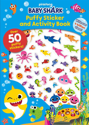 Simon & Schuster Baby Shark  Puffy Sticker And Activity Book