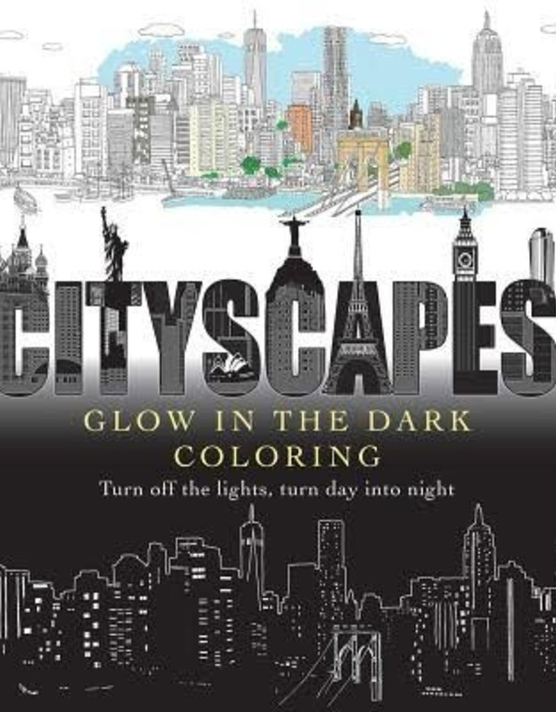 Simon & Schuster Cityscapes Glow in the Dark Coloring