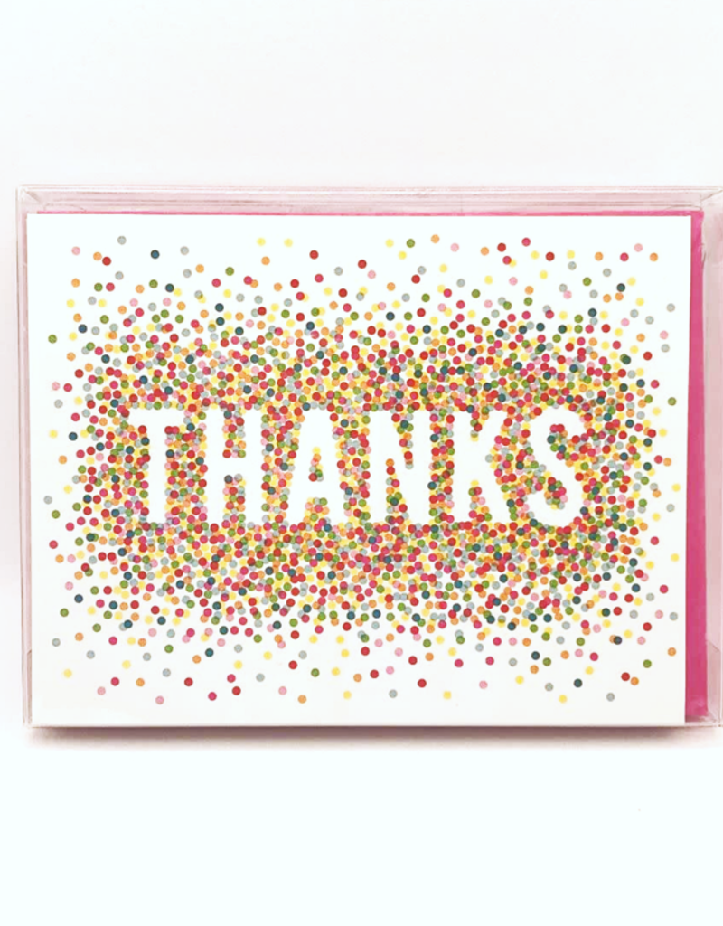 Waste Not Boxed Cards Colorful Confetti Thanks