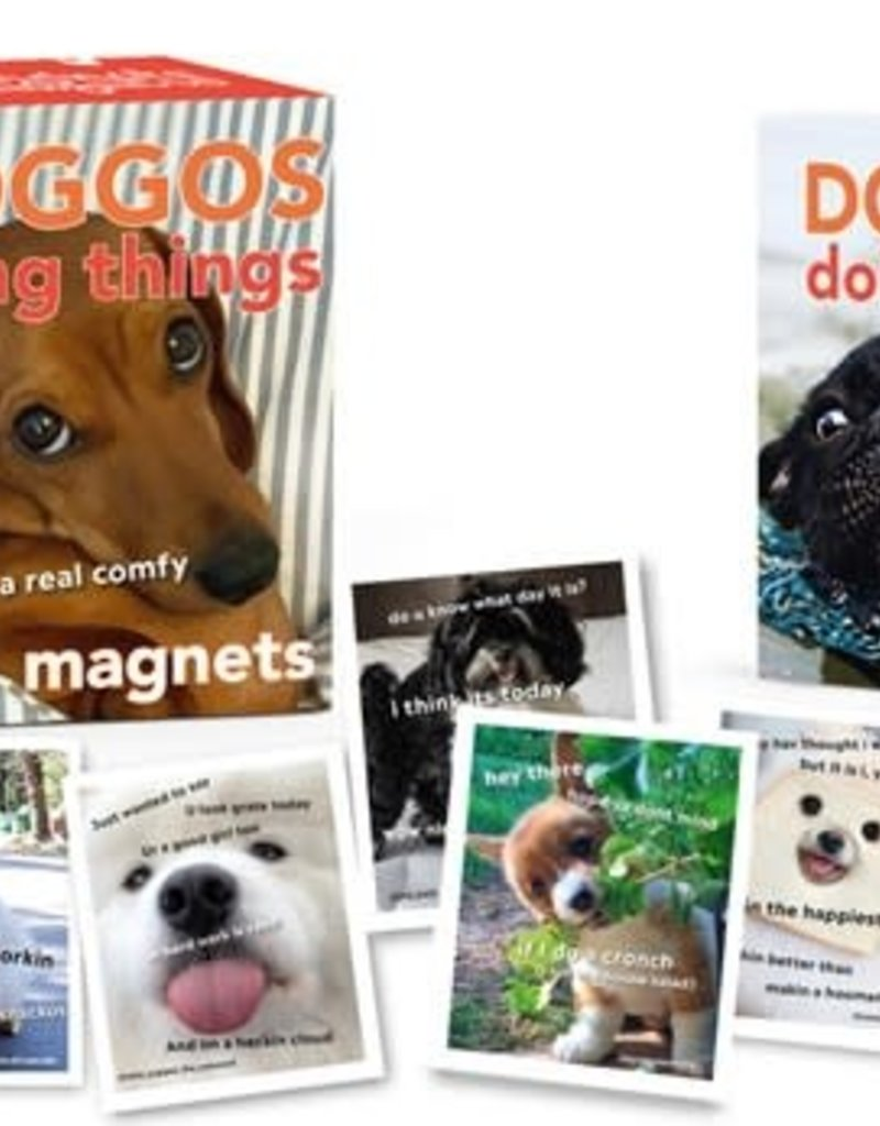Running Press Doggos Doing Things Magnets