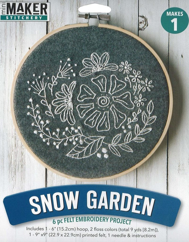 Leisure Arts Mini Maker Felt Embroidery Snow Garden
