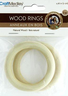 Craft Medley Wood Rings 70mm