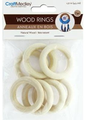 Craft Medley Wood Rings 45mm