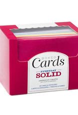 American Crafts Boxed Cards Solid Colors