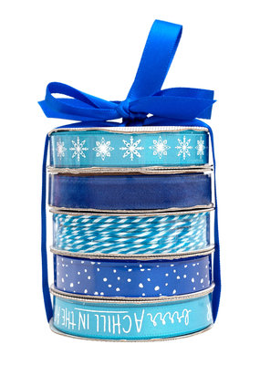 American Crafts Ribbon Spool Winter Blue