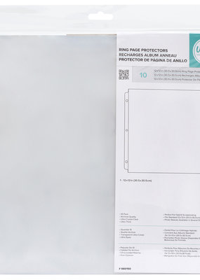 We R Memory Keepers Ring Page Protectors 12 x12 10 Pack