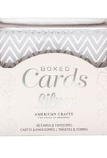 American Crafts Boxed Cards Silver