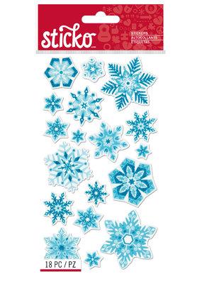Sticko Sticker Snowflakes