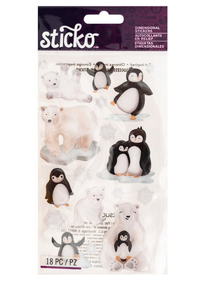 Sticko Sticker Penguins & Polar Bears