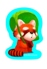 The Little Red House Sticker Red Panda