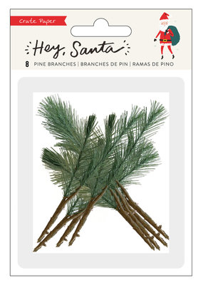 Crate Paper Hey Santa Pine Branches