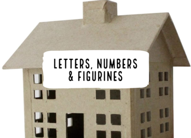 Letters, Numbers & Figurines