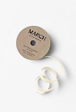 march 100% Cotton Ribbon Cream