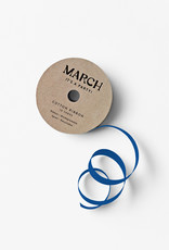 march 100% Cotton Ribbon Dark Blue