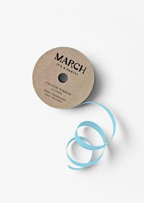 march 100% Cotton Ribbon Light Blue