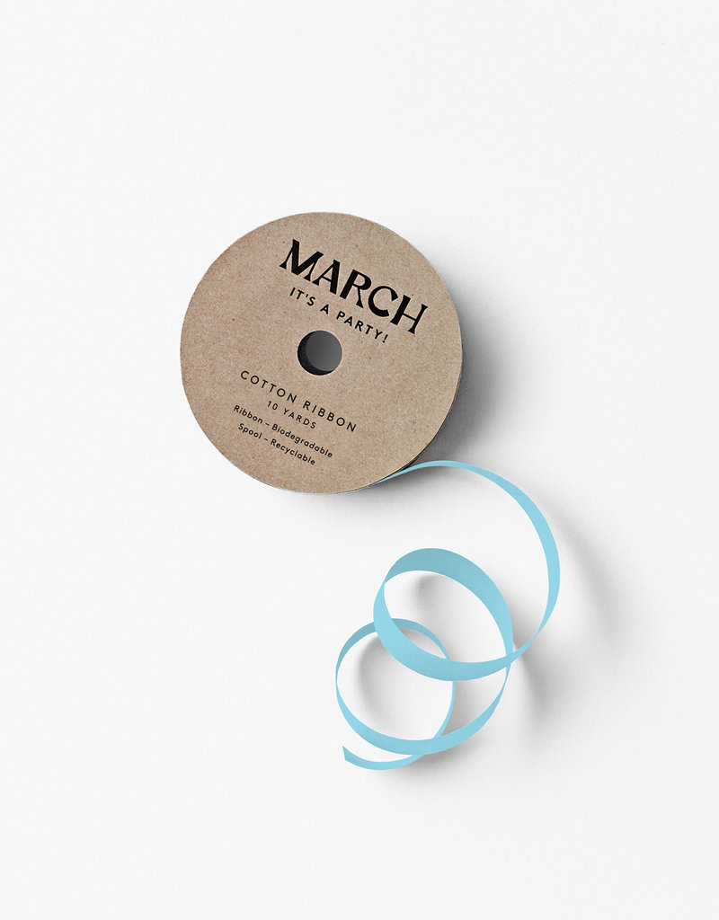 march 100% Cotton Ribbon Light Blue