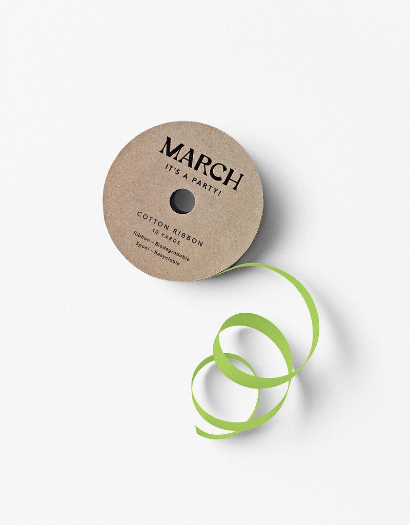 march 100% Cotton Ribbon Lime