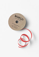 march 100% Cotton Ribbon Red