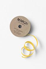 march 100% Cotton Ribbon Yellow