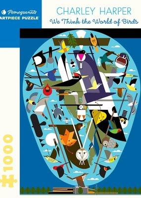 Pomegranate 1000 Piece Puzzle Charlie Harper: The World of Birds