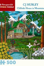 Pomegranate 500 Piece Puzzle CJ Hurley Cliffside House in Mountains