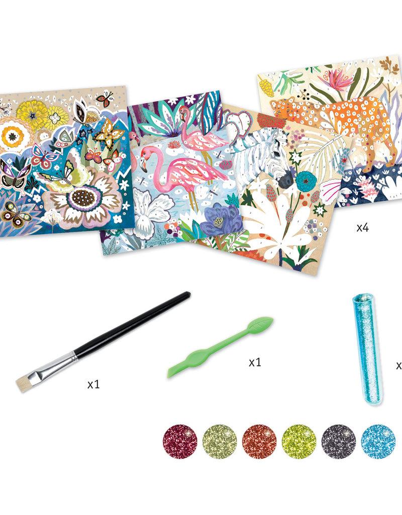 DJECO Tropico Glitter Board Kit